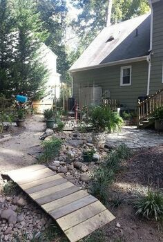 dry stream bed, gardening, landscape, outdoor living