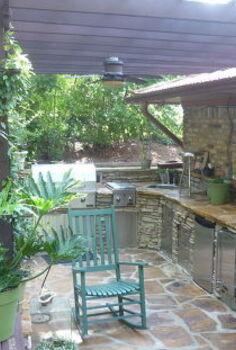 outdoor kitchen deck amp herb garden after lying in the gardens or soaking in, decks, flowers, outdoor living