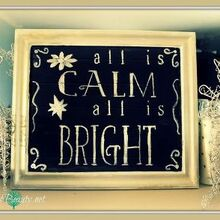 pottery barn inspired christmas art made from free door inspiredby, chalkboard paint, crafts, repurposing upcycling, my finished Pottery Barn inspiredby Christmas sign
