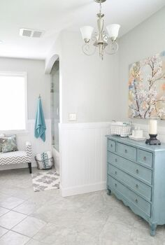 gorgeous bathroom makeover, bathroom ideas, home decor, home improvement, AFTER