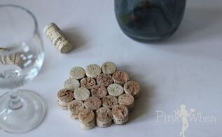 wine cork coaster, crafts, repurposing upcycling, Take your old corks and upcycle them into usable drink coasters