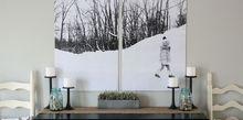 bold split photo wall decor, crafts, home decor