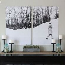 bold split photo wall decor, crafts, home decor