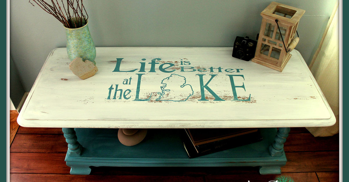 Beach House Beauty Life Is Better At The Lake Coffee Table Makeover Hometalk
