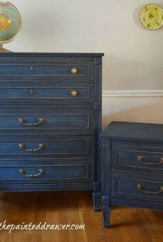 a set in coastal blue, painted furniture