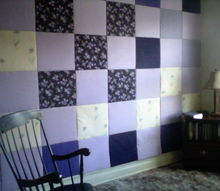 a way to add color and insulation to an old plaster wall without major construction, home decor, wall decor, My Quilt Wall