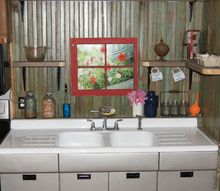 small rustic kitchen makeover, diy, home decor, how to, kitchen backsplash, kitchen design, painted furniture, repurposing upcycling, rustic furniture