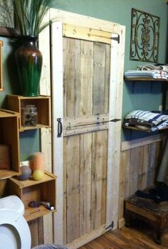 simple pallet door, diy, doors, pallet, repurposing upcycling, woodworking projects