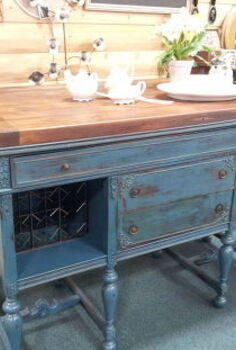 vintique junktion vintage buffet to kitchen island wine bar, painted furniture