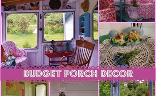 budget porch decor, curb appeal, outdoor furniture, porches