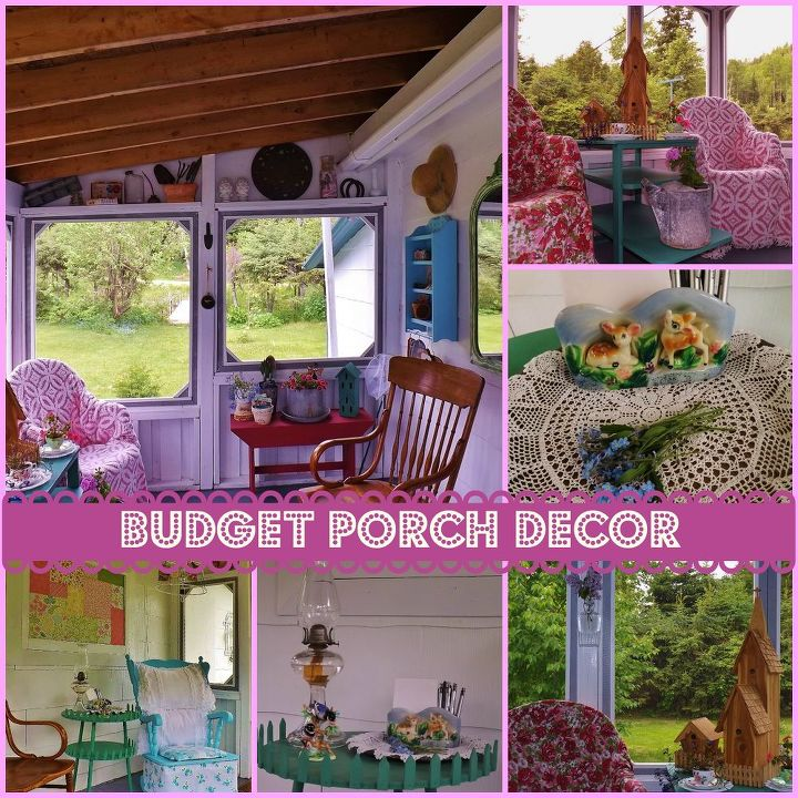 Budget porch decor hometalk for Outdoor patio decorating ideas on a budget