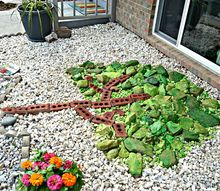 a pop of rock art, diy, gardening, how to, landscape