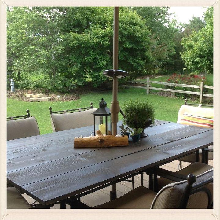 diy rustic patio table top painted furniture rustic furniture