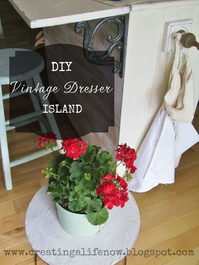 Turn An Old Dresser Into A Vintage Island For Free Diy Kitchen Design