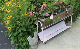 gardening repurposed record stand, flowers, gardening, repurposing upcycling