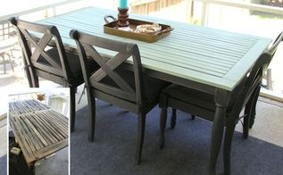 patio table update trash to treasure, chalk paint, diy, outdoor furniture, painted furniture