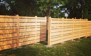 backyard ideas wood plank fence, diy, fences, landscape, outdoor living, woodworking projects