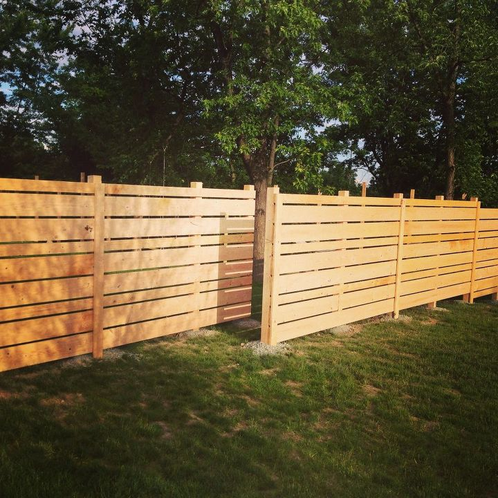 backyard ideas wood plank fence diy fences landscape outdoor