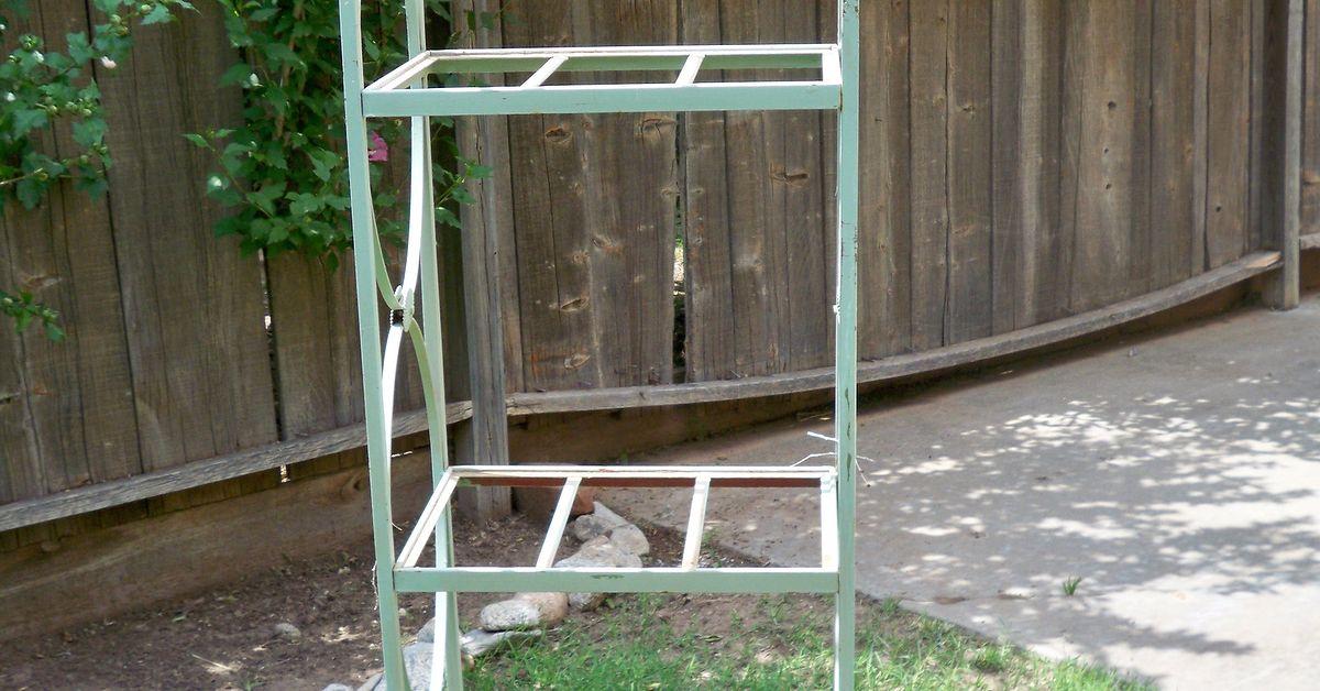 Metal shelving to garden rack Hometalk