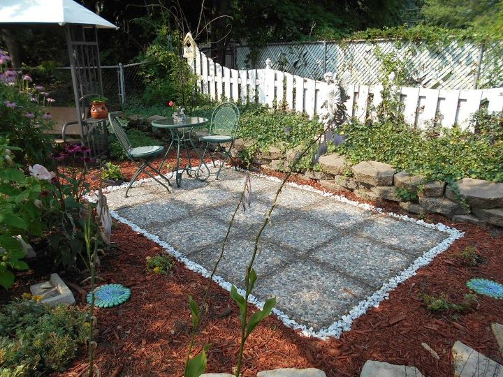 Simple garden patio for a small space hometalk Outdoor patio ideas for small spaces