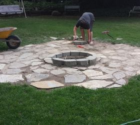Backyard Ideas Fire Pit Build Patio, Diy, Outdoor Living, Patio, Almost Done