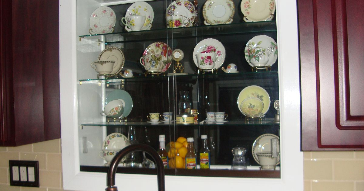 Lighted Kitchen Window Teacup And Saucers Curio Cabinet