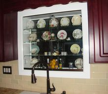lighted kitchen window teacup and saucers curio cabinet, doors, home decor, kitchen design