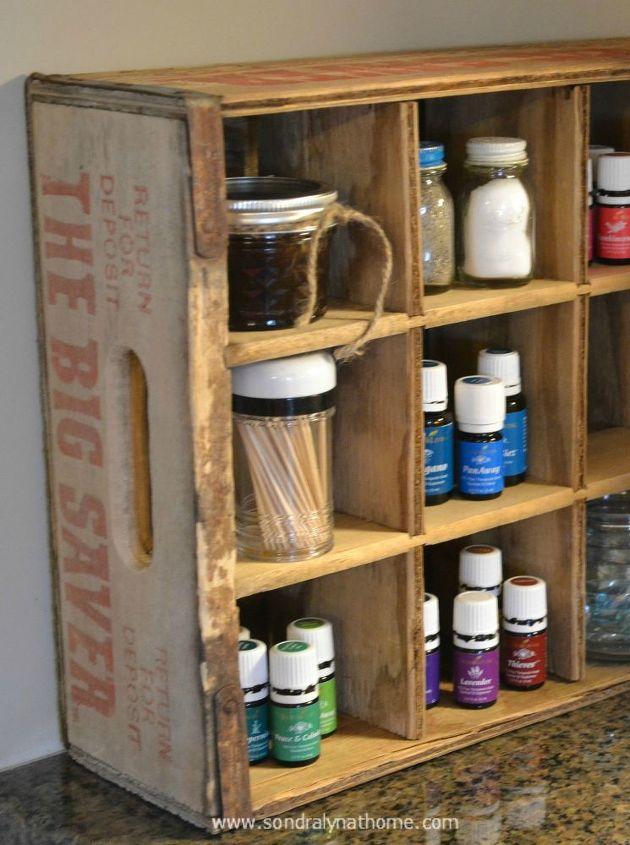 Repurposed Vintage Crate Kitchen Storage Hometalk