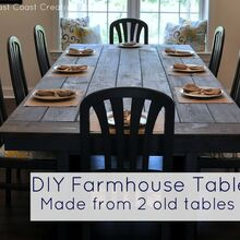 make your own farmhouse table the easy way, diy, how to, painted furniture, rustic furniture, woodworking projects, Full tutorial