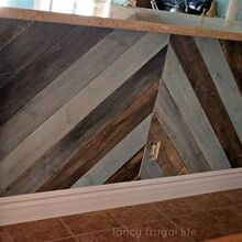 diy kitchen bar planked wall, diy, kitchen design, wall decor, woodworking projects