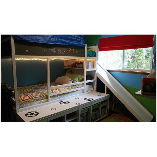 Boys room fun bedframe ideas hometalk for Bedroom chalkboard paint ideas