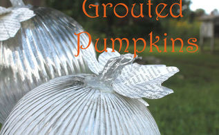diy pottery barn knockoff grouted pumpkins, crafts, seasonal holiday decor