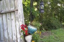 my topsy turvy planter, gardening