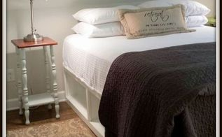 storage bed pottery barn knockoff, bedroom ideas, diy, painted furniture, storage ideas, woodworking projects