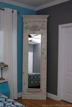 diy trumeau floor mirror, crafts, hardwood floors, home decor, Finished DIY Trumeau Floor Mirror