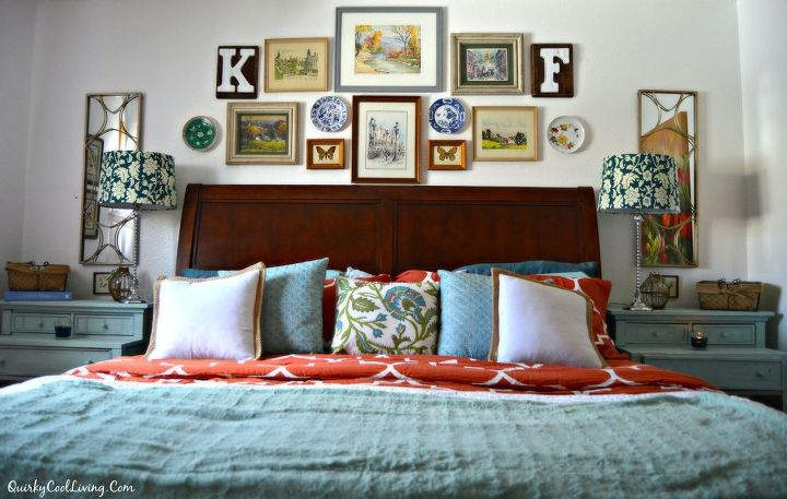 Eclectic Wall Decor Ideas : An eclectic cottage bedroom makeover hometalk