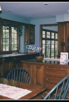 one special diy madeover kitchen our favorite room to share these special years, doors, fireplaces mantels, home decor, kitchen design, kitchen island, Our Kitchen BEFORE this is how our kitchen looked when we bought the house It had great bones but needed color Find what we did here http www redheadcandecorate com 4 post 2012 06 inspiration cafe week 3 html
