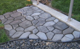 concrete cobblestone path, concrete masonry, outdoor living, patio