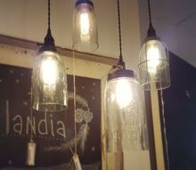 diy farmhouse light with a mason jar, lighting, mason jars