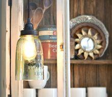 diy farmhouse light with a mason jar, lighting, mason jars