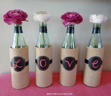 diy wine bottles vases upcycle and re use, container gardening, crafts, gardening, repurposing upcycling