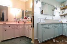 brian kaylor master bathroom reveal diylikeaboss, bathroom ideas, painted furniture, painting, small bathroom ideas