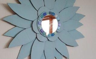 cardboard sunburst mirror, crafts, repurposing upcycling, wall decor