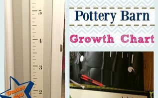 diy knock off pottery barn kids growth chart, how to, painted furniture