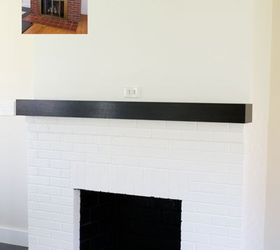 Painting Our Red Brick Fireplace White | Hometalk