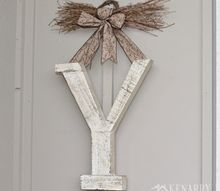 winter monogram decor for outside the front door, crafts, doors, seasonal holiday decor, wreaths