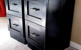 mismatched metal file cabinets get a makeover, diy, home office, painted furniture, woodworking projects