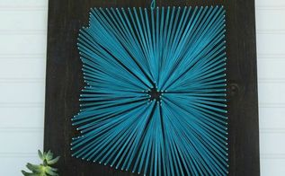 arizona string art, crafts, wall decor
