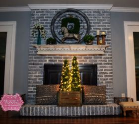 Painted Brick Fireplace-Farmhouse Inspiration   Hometalk