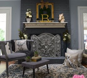 Fireplace Makeover Using Chalk Paint   Hometalk